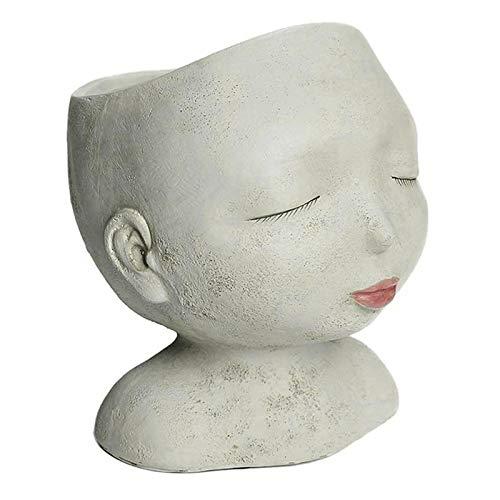 YOUNGE Macetero Nordic Closed Eyes, la mejor maceta, que puede embellecer la decoración del jardín de casa.