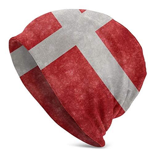 Gorros de Punto para Hombre y Mujer Sombreros Bandera de Dinamarca Gorros de Invierno clidos para Adultos