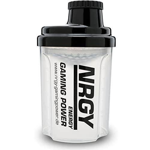 NRGY Gaming Power Gamer Shaker 300ml mit Sieb - Booster Shaker BPA Frei - Gamer Shaker mit Messskala und Drehverschluss