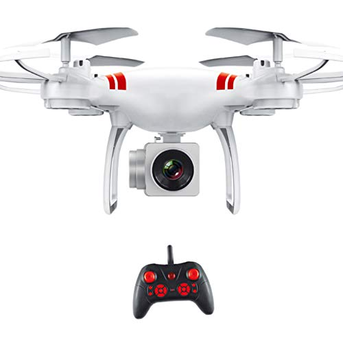 Hellery RC Drone Quadcopter HD Camera WIFI 4 Gyroscope Quadcopter - White 4K HD