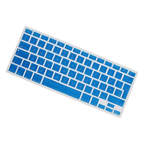 H HILABEE Dänisch Tastatur Aufkleber für MacBook 13,3 Zoll 15 pro Notebook, Dänisch Tastatur Layout mit Buchstaben, Keyboard Sticker - Blau
