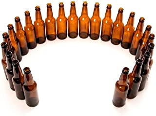 Monster Brew Home Brewing Supp 5800 Beer Bottles-12 oz Amber Longneck-Case of 24, 12 oz