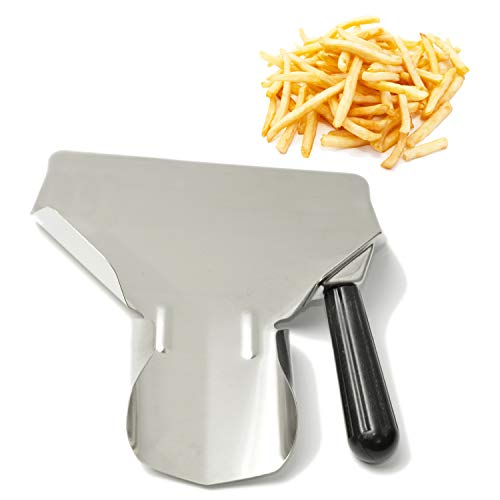 MGGi Stainless Steel French Fry Bagger Scoop Chip Popcorn Bagger Ice Candy Snacks Desserts Scooper, Right Handle