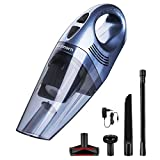 Handheld Vacuum, Godmorn 6KPA Cordless Vacuum Cleaner Rechargeable Hand Vac, 11.1V Lithium 100W Strong Motor with Cyclone Suction, Wet Dry Lightweight Hand Vacuum for Home Pet Hair Car Cleaning
