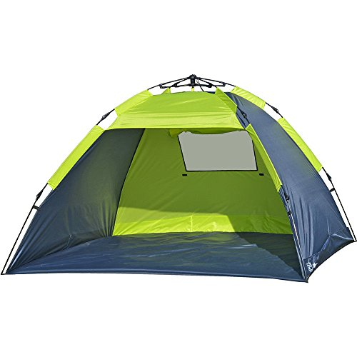 Photo of Explorer Automatic Beach Shelter UV Protection 80+, 46292, Green-grey, 220 x 150 x 130 cm