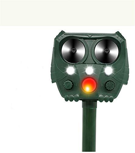 Repelente Ultrasónico Solar Para Ratones, Disuasivo Aterrador Para Perros Gato Zorro, Repelente Para Animales A Prueba De Agua, Utilizado En La Granja Del Patio Del Jardín, 15.5x14.5x9.5cm