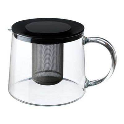 2 XIKEA RIKLIG - Teapot, glass - 1,5 l