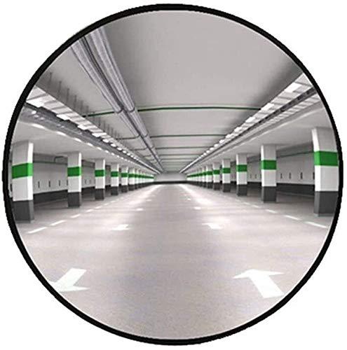 Espejo de Tráfico Convexo de Seguridad Gran Angular Espejo garaje subterráneo de coches punto ciego espejo, Ronda Negro espejo convexo tienda al por menor tienda anti-robo Espejo Diámetro: 60 cm de se