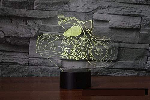 Baby Spielzeug 3D noche luz visual motocicleta 3D ilusión 16 colores cambiantes USB LED táctil escritorio lámpara de mesa como decoración del hogar