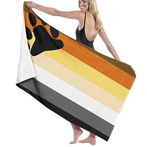 Poikl Toallas de Playa Bandera del Orgullo del Oso Toallas de baño para niñas Adolescentes Adultos Toalla de Viaje Toalla 31x51 Pulgadas