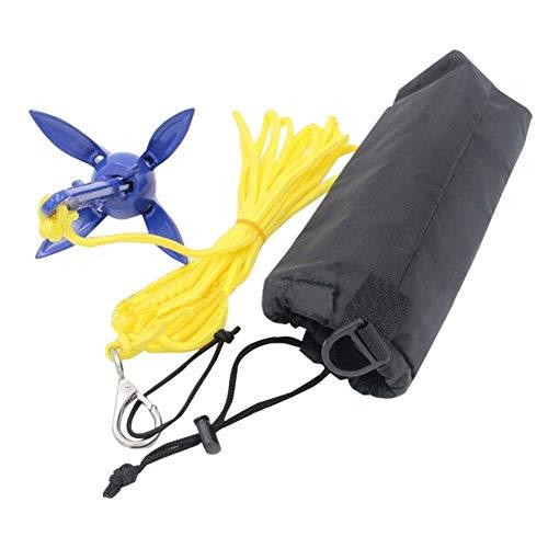 Anclas para Barcos, Ancla Plegable con Cuerda de 16.4 pies, Kit de Anclaje portátil de Grapnel, para Kayaks de Pesca, Canoa, Moto de Agua, Tabla de Paddle Sup y pequeñas embarcaciones