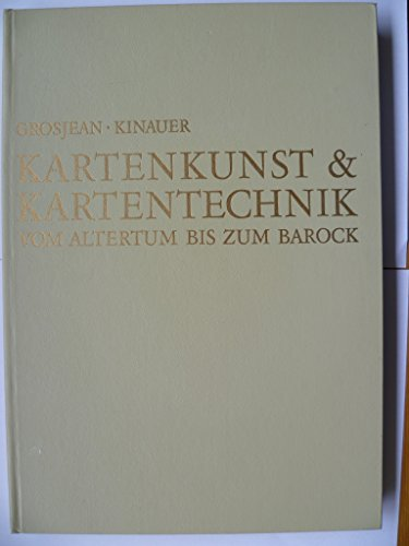 Kartenkunst & Kartentechnik vom Altertum bis zum Barock.