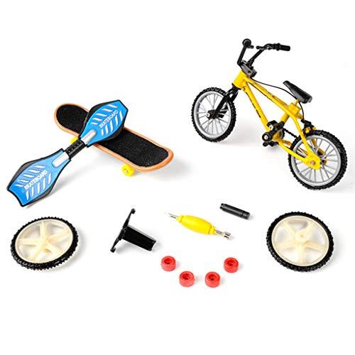 Wr Mini Sistema del Deporte de la Bicicleta del Dedo, Juguetes creativos del monopatín del Juego del diapasón de la Bicicleta DIY