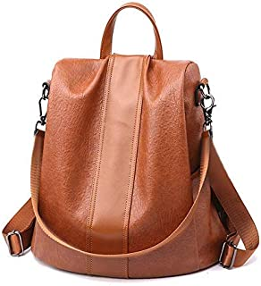 Women Backpack Purse Leather Anti-theft Backpack Casual...