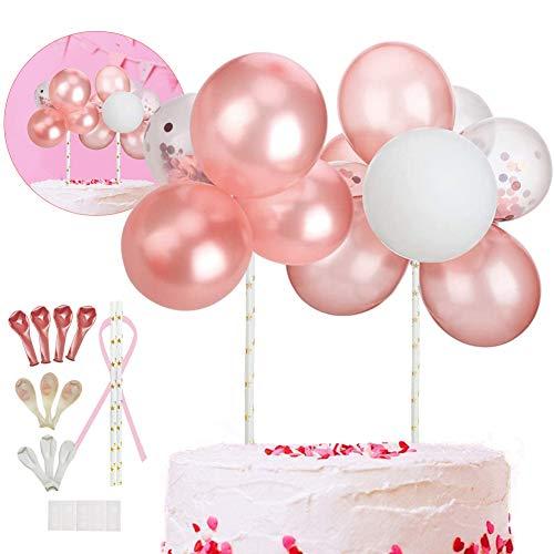 Sunshine smile Latex Konfetti Ballon Wolke Kuchen Topper,Happy Birthday Cupcake Topper,Mini Ballon Girlande Kuchen Topper,Tortendeko Geburtstag Partydekoration,Babyparty Topper