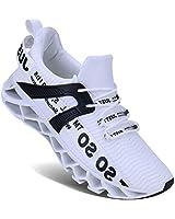 UMYOGO Mens Athletic Walking Blade Running Tennis Shoes Fashion Sneakers (13 M US, 1-White)