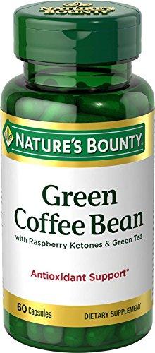 Nature's Bounty Green Coffee Bean with Raspberry Ketones & Green Tea Capsules, 60 ea