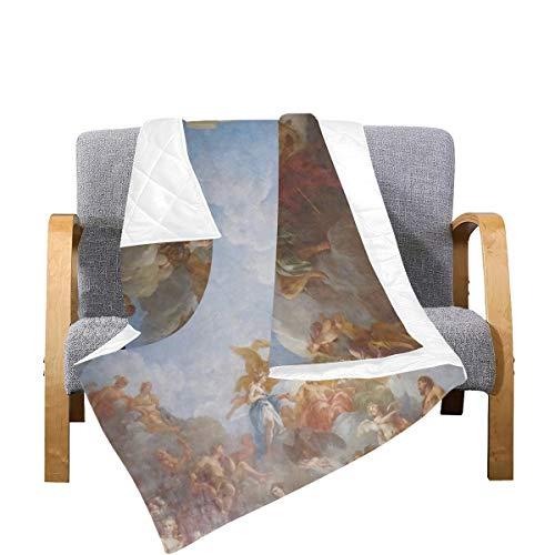 Enhusk Edredón Manta para niños París Francia Versalles París Francia Histórica Manta de Microfibra Edredón para Hombres 70x80 Pulgadas Multicolor Decorativo para sofá Cama Sofá