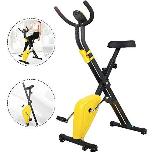 Faltbarer Heimtrainer Einstellbarer Widerstand klappbar Kompakter Bike Komfortsitz ist Verstellba Cardio Workout Fitnessrad für den Heimgebrauch Indoor Training