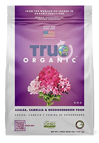 True Organic - Azalea, Camellia & Rhododendron Plant Food 4lbs - CDFA, OMRI, for Organic Gardening…