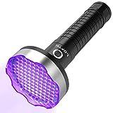 Black Light UV Flashlight,108 LED Ultraviolet Blacklight Flashlights, Pet Urine Detector for Dog/Cat Urine,Dry Stains,Bed Bug, Handheld UV Light for Scorpion Hunting, Matching with Pet Odor Eliminator