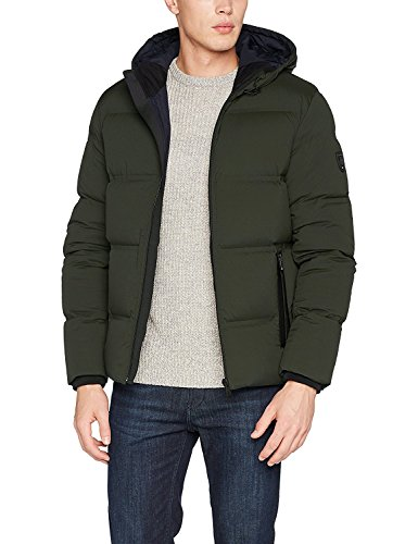 Tommy Hilfiger Herren Maddy HDD Down Bomber Jacke, Grau (Rosin 322), Medium