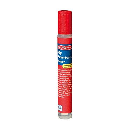 Herlitz 10417020 Papierkleber-Pen, 65 g, farblos und lösungsmittelfrei