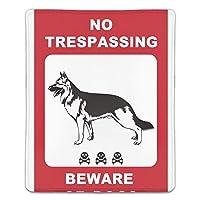 マウスパッド ノートパソコン オフィス用 ゲーム用 犬注意 (180*220*3mm)防塵 耐久性 滑り止め 耐用