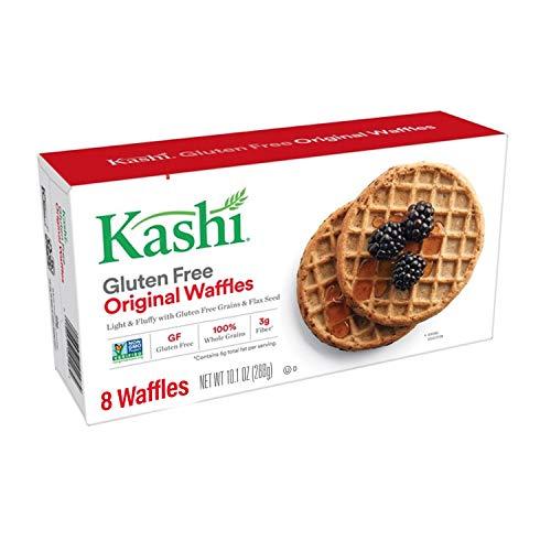 Kashi Frozen Original Waffles - 100% Whole Grains, Vegan, 10.1 Oz Box (8 Waffles)