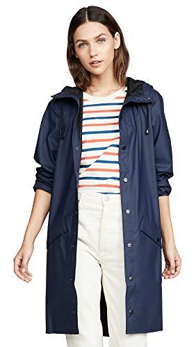 Rains Long Jacket, impermeable Hombre, azul, Medium/Large (Talla fabricante:...