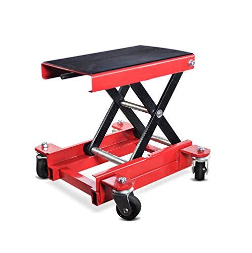 Pont élévateur Moto Chariot/Cric de déplacement HR1 500kg Rouge
