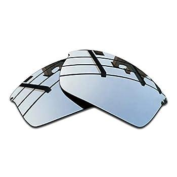 SEEABLE Premium Polarized Mirror Replacement Lenses for Oakley WireTap OO4071 Sunglasses - Silver Mirror