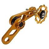 Allamp Aleación de Aluminio Accesorios de la Bici Chain Los recambios for la Bicicleta MTB Individual Desviador de Velocidad Trasero Tensor de Cadena S3 Accesorios