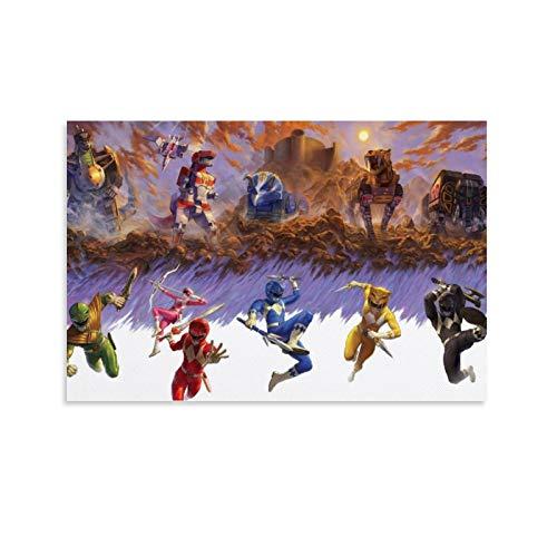 DRAGON VINES Power Rangers - Póster decorativo para pared (50 x 75 cm)