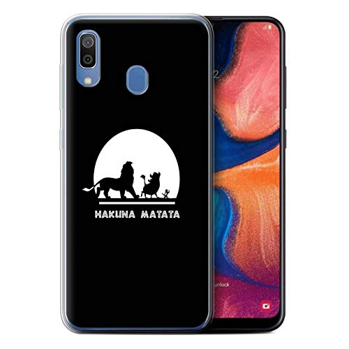 Coque pour Samsung Galaxy A20e 2019 Animaux Africains Dessin Animé Hakuna Matata Désign Transparent Doux Silicone Gel/TPU Souple Etui Housse Case