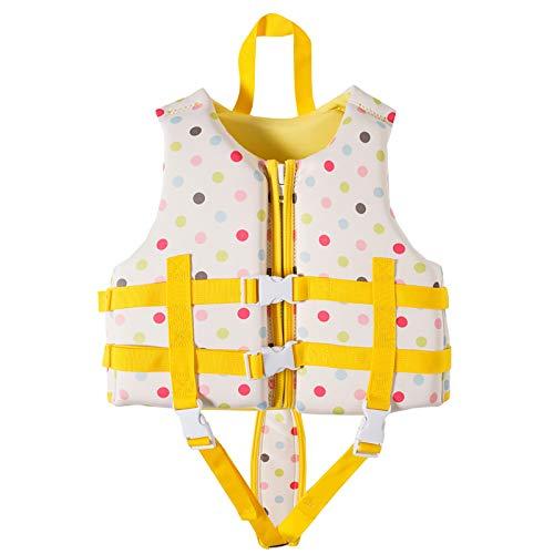 Niños Chaleco Salvavidas Swim Assist Alta Flotabilidad Evitación De Colisiones Manténgase Abrigado Chaleco Salvavidas para Nadar, Pescar Y Surfear,Blanco,S