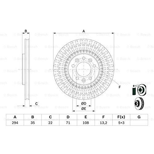 Bosch 0 986 479 E32 - Discos de freno (2 unidades)