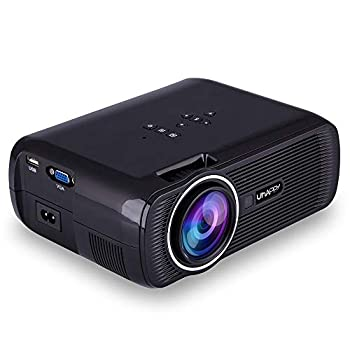 ELEOPTION LED Projector 1080P Full HD Video Movie Projector for Business PowerPoint Presentation Home Theater Compatible with Laptop iPhone Android TV WiFi VGA HDMI USB Fire  Black