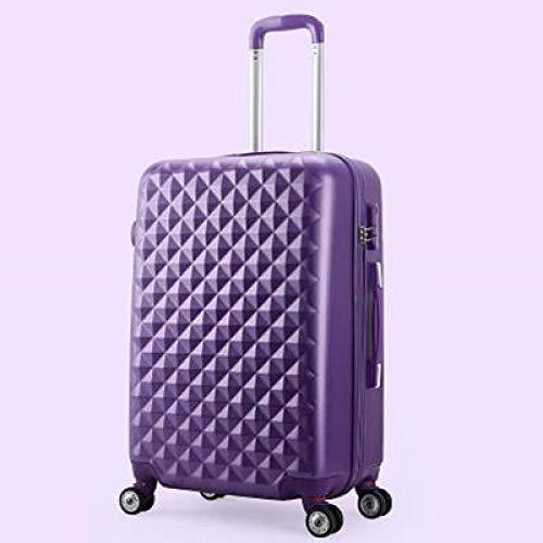 Huiran Scatola password bagaglio Trolley valigia 20 pollici ruota universale 24 pollici valigetta imbarco-scatola singola viola_20 pollici