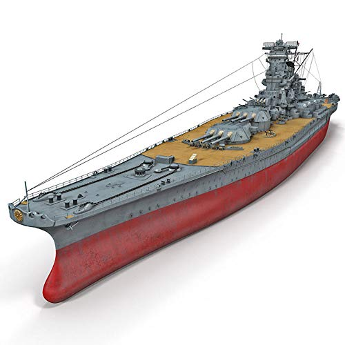 """1: 700 Segunda Guerra Mundial Acorazado Modelo, Japón Manual Yamato portaaviones DIY Montado Modelo, Juguetes para niños (18.9\""""* 7.3\"""" x 2\"""")"""