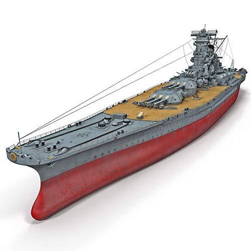 """1: 700 Segunda Guerra Mundial Acorazado Modelo, Japón Manual Yamato portaaviones DIY Montado Modelo, Juguetes para niños (18.9""""* 7.3"""" x 2"""")"""
