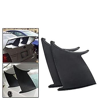 PQYRACING 2PCS Spoiler Wing Stabilizer Compatible with Subaru STI 2011-14 Spoiler Wing Stiffi Support Rally