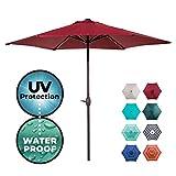 Abba Patio 9ft Patio Umbrella Outdoor Umbrella Patio Market Table Umbrella with Push Button Tilt and Crank for Garden,...