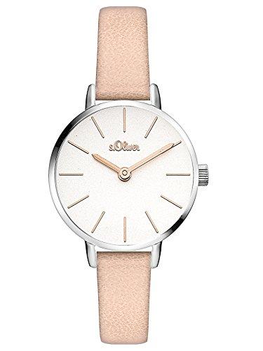 s.Oliver Damen Analog Quarz Armbanduhr mit PU Armband SO-3541-LQ