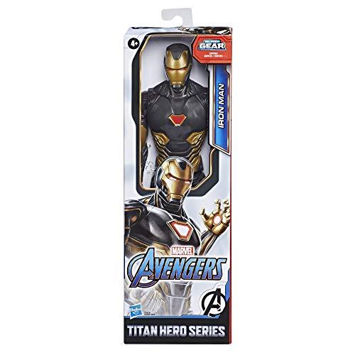 Marvel Avengers Titan Hero Series Blast Gear, Action figure di Iron Man, di 30 cm, per bambini dai 4 anni in su