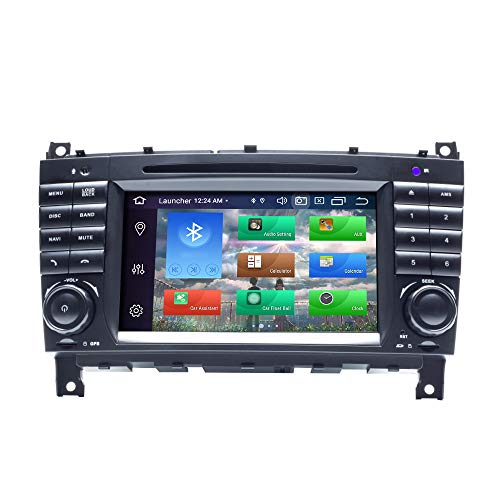 BOOYES para Mercedes-Benz CLK Clase W209 CLK200 CLK220 CLK320 CLC W203 C180 C200 C220 C230 C250 C270 C280 C300 C320 CLC W203 Android 10 8 Core 4GB RAM 128GB ROM 7'Radio de Coche estéreo navegador GPS
