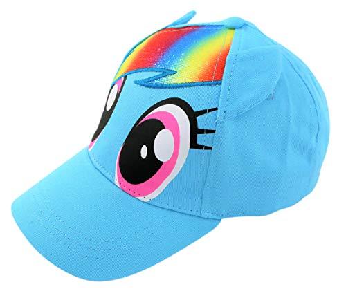 Hasbro Little Girls Pony Character Cotton Baseball Cap, Light Blue, Ages 4-7