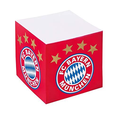 Bayern München Notiz Quader Logo Zettelblock, Notizblock, Notizwürfel kompatibel FCB - Plus Lesezeichen I Love München