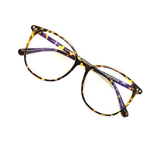 Blue Light Blocking Computer Glasses for Women Men Tortoise Round Lightweight Anti Eye Strain...