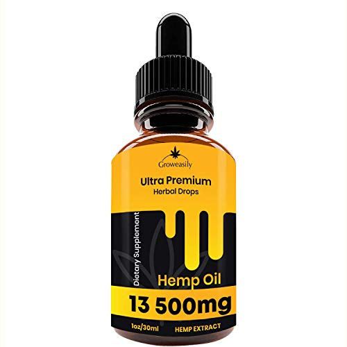 Hemp Oil Spectrum Extract 13500mg, All-Natural Drops for Pain Relief, stress, anxiety Relief, Deep Restful sleep